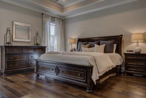 master bedroom being cleaned in Denver CO